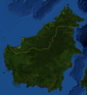 Nepenthes × alisaputrana - Image: Nepenthes x alisaputrana distribution