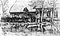 Neujahrsflut 1855 01 Oldershausen Marschacht Winsener Marsch Elbmarsch Ilmenau Boot vor Haus.jpg