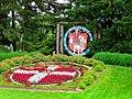New Glarus Welcome Sign ^ Flower Clock - panoramio.jpg