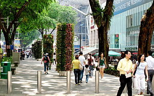 Orchard Road - Image: New Orchard Road Flower Zone
