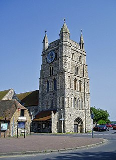 New Romney town in Kent, England