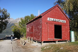 Glenorchy, New Zealand - Boatshed near wharf
