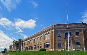 Newburgh Free Academy - School viewed from northeast corner, 2007