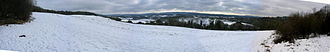 Newlands Corner - Image: Newlands corner snow panorama