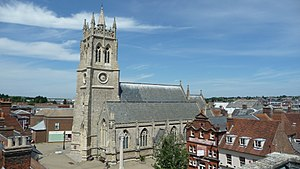 Newport, Isle of Wight - Image: Newport St Thomas' Church in July 2010 4