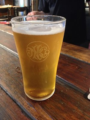 Beer in Australia - A glass of beer, produced by the Newstead Brewing Company