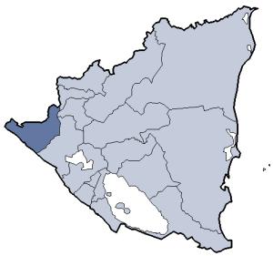 Chinandega - Location of Chinandega