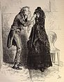 "Nicholas Nickleby, (1875?) """"I see how it is,"" said poor noggs, drawing from his pocket waht seemed to be a very old duster, and wiping Kate's eyes with it as gently as if she were an infant."" (3986244559).jpg"