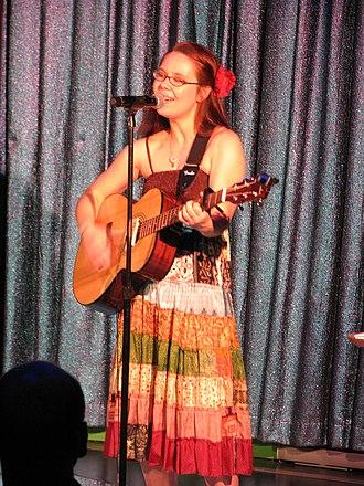 Nerd-folk - Nicole Dieker (Hello, The Future!) performing in February 2013.