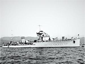 Navigatori-class destroyer - Image: Nicolo Zeno at anchor