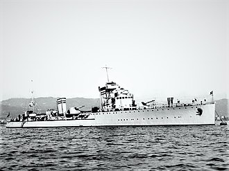 Navigatori-class destroyer - Image: Nicolo Zeno at anchor