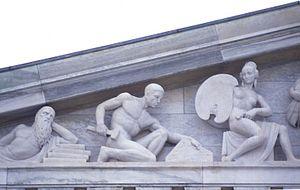 Buffalo History Museum - Image: Niehaus Buff Ped 1