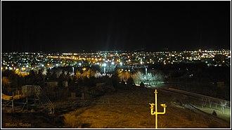 Khomeyn - Image: Night in Khomein