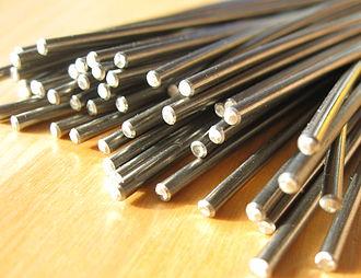 Nickel titanium - Image: Nitinol draht