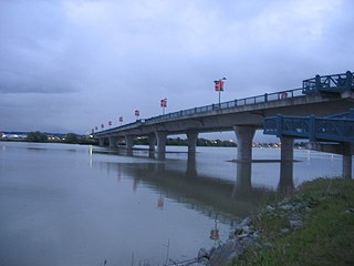 No. 2 Road Bridge Bridge across the Middle Arm of the Fraser River in British Columbia, Canada