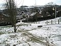 No takers for the benches on a snowy Stag Hill - geograph.org.uk - 1154002.jpg
