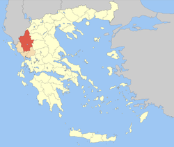 Ioannina within Greece