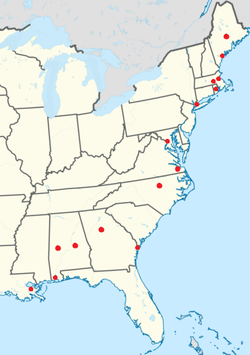 American English Wikipedia - Accent map of us