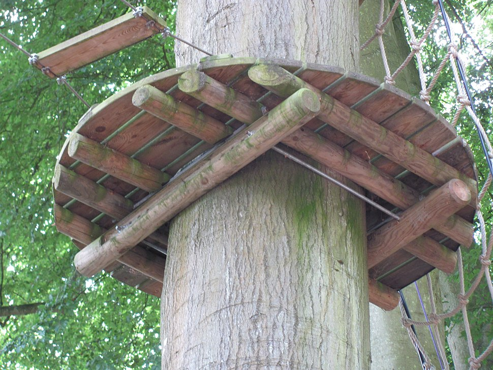 Non invasive method of fixing a tree platform