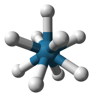 Capped square antiprismatic molecular geometry - Image: Nonahydridorhenate 3D balls