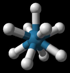 Gyroelongated square pyramid - Image: Nonahydridorhenate 3D balls