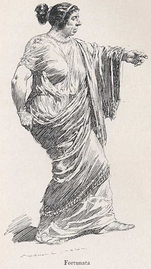 Satyricon - Fortunata, illustration by Norman Lindsay.
