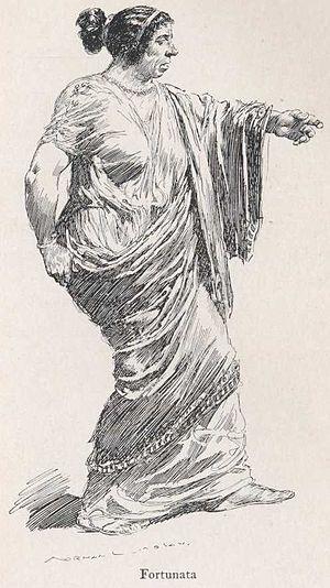Satyricon - Fortunata, illustration by Norman Lindsay.