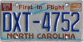 North Carolinian license plate, 1982–2007 series with April 1999 sticker.png