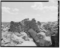 Northwest side, looking southeast. - Adolfo Canyon Pueblito, Adolfo Canyon, Dulce, Rio Arriba County, NM HABS NM,20-DUL.V,1-5.tif