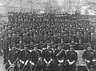 Hans Majestet Kongens Garde - Guardsmen in 1906, shortly after the 1905 dissolution of the union with Sweden.