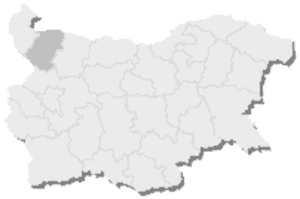 12th MMC – Montana -  Map of Bulgaria, 12th MMC – Montana is highlighted