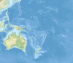 Mapa lokalizacyjna Oceanii