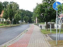 Oderstraße, letzter Abschnitt vor der Sackgasse für Kfz in Richtung Kleinmachnow - panoramio