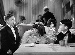 "Carl Switzer - Switzer (right) as ""Alfalfa"" in Our Gang Follies of 1938, with fellow Our Gang cast members George ""Spanky"" McFarland and Darla Hood."