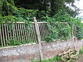 Old wooden rails at Lymore Park IMG 3025.JPG