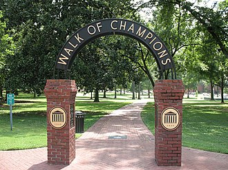 The Grove (Ole Miss) - The Walk of Champions arch entrance to The Grove.