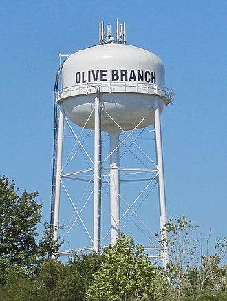 Olive Branch, Mississippi - Image: Olive Branch MS 003 Watertower