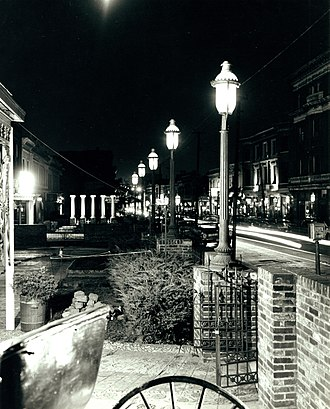 Gaslight Square, St. Louis - Olive East From Boyle, Gaslight Square, 1966