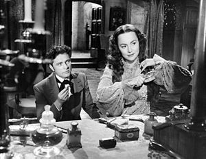 Olivia de Havilland and Richard Burton in My Cousin Rachel 1952.jpg