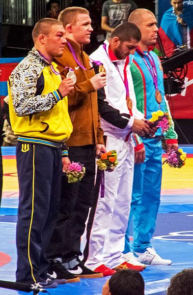 File:Olympic Freestyle Wrestling (96 kg - Medalists).jpg