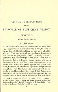 <i>On the Fourfold Root of the Principle of Sufficient Reason</i> book by Arthur Schopenhauer