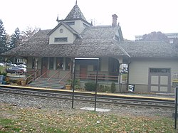 The Oradell train station in the year 2007.