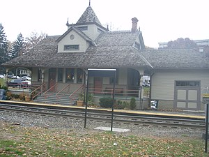 Oradell, New Jersey - The Oradell train station in the year 2007.