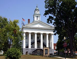 The Orange County courthouse in Paoli