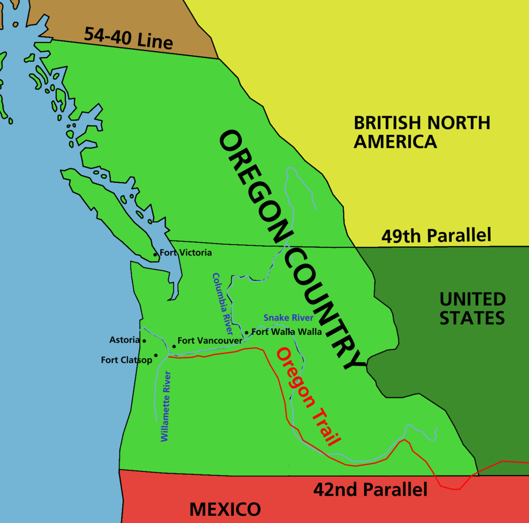 FileOregon Country Early Nineteenth CenturyPNG Wikimedia Commons - Fort clatsop on us map
