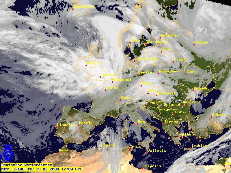 Orkan Emma 29. Februar 2008 12-00 UTC