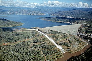 Oroville Dam - Image: Oroville dam aerial