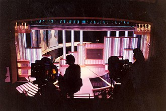 Dorothy Chandler Pavilion - The stage as seen from the balcony at the 62nd Academy Awards in 1990.