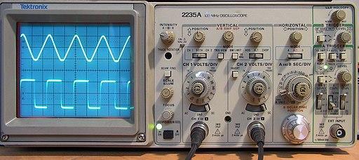 Oscilloscope sine square
