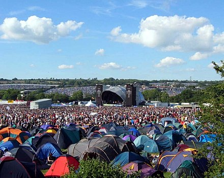 "Glastonbury Festival's ""Other Stage"" in 2004 with tents in the foreground OtherStagefriday2004.jpg"